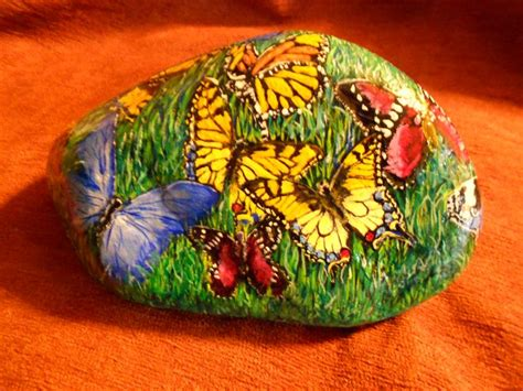 acrylic painting rocks butterflies acrylic painted rocks by lydia camillo