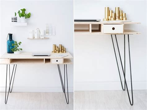 Modern Desk Legs The Key To Chic Diy Furniture Is A Set Of Hairpin Legs