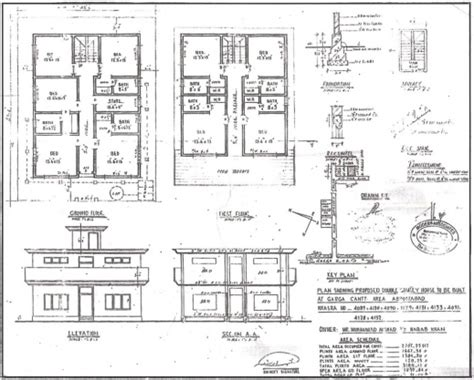 plan elevation and section of residential building residential building plan section elevation house plan