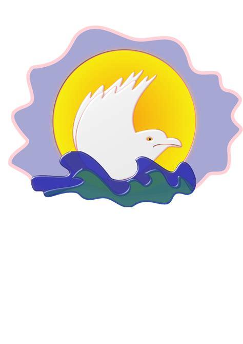 logo clipart clipart seagull logo