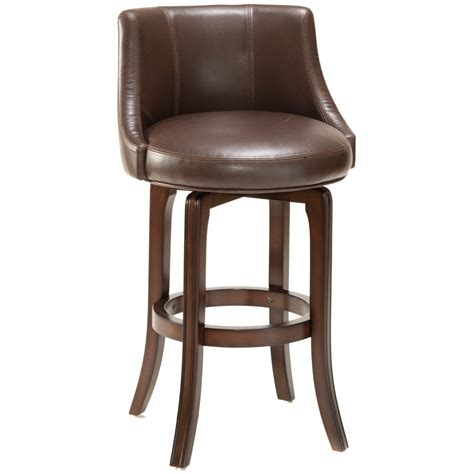 Leather Bar Stools Swivel by Hillsdale Napa Valley 25 In Swivel Counter Stool Brown