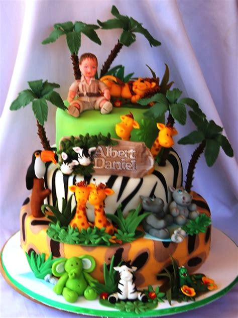 jungle themed birthday cake animal jungle safari theme kids birthday party cakes and