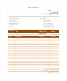 Roofing Estimate Template by Roofing Invoice Template 4 Free Word Pdf Documents