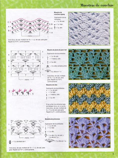 graficos de puntos calados de crochet solo puntos puntos calados crochet