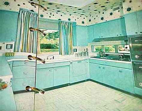 Kitchen Colors Of The 50 S Retro Rooms The 1950s Kitchen Hooked On Houses
