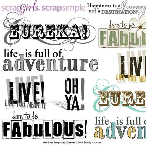 scrapsimple word art templates eureka scrapbooking