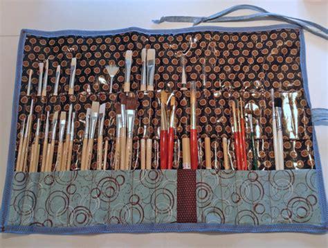 pattern for paint brush holder joy by robin s paintbrush roll up weallsew bernina usa