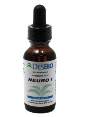 Desbio Detox Drops by Neuro 1 Homeopathic By Desbio