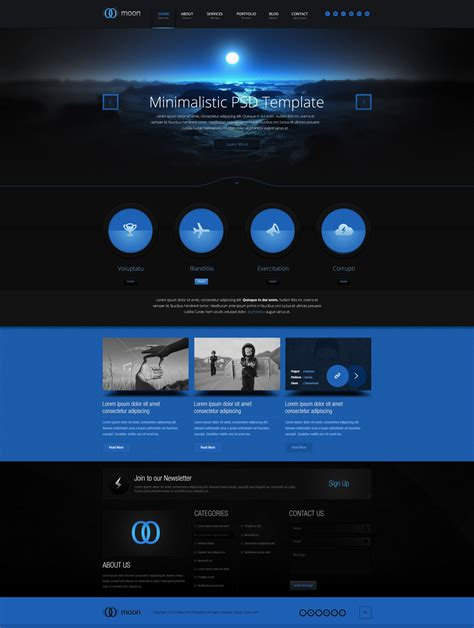 Simple Powerful Yet Dark Web Design Inspiration Web Pinterest Photoshop Website Award Winning Website Templates