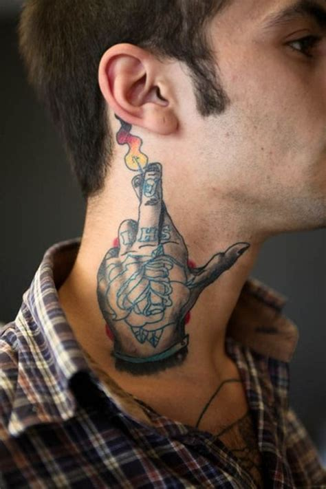 neck tattoos for men mens neck tattoo ideas