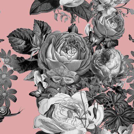 vintage rose garden in dusty pink fabric shopcabin