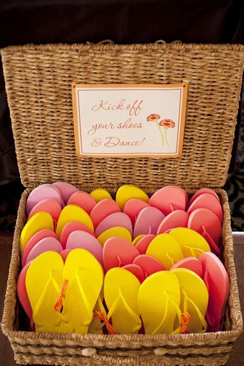 Pink & Yellow Flip Flop Wedding Favors