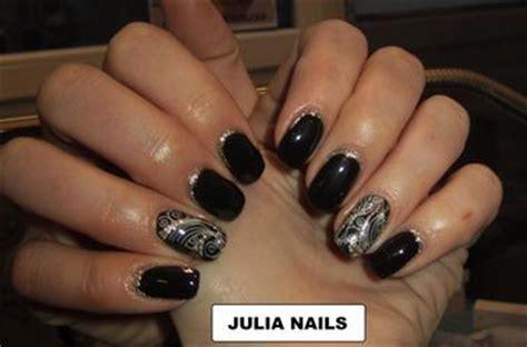 ongle en gel couleur noir pronails blog de nails julia