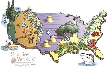 map of the united states landforms the great visual of landform regions of the united states
