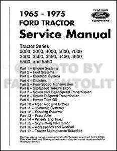 Ford 3000 Tractor Manual Ebay