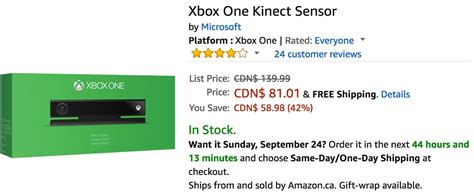 Xbox One Giveaway Canada - amazon canada deals save 42 on xbox one kinect sensor 25 on fisher price little