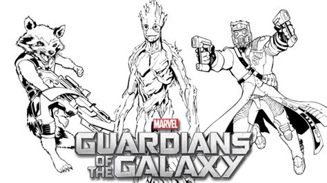 Guardians Of The Galaxy Coloring Pages 20 free printable guardians of the galaxy coloring pages