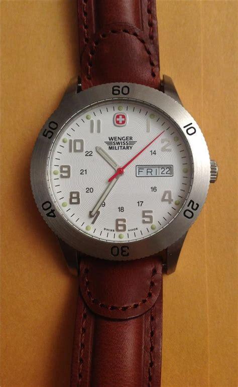Swiss Army Sa3031 Original Brown List White mens wenger swiss army white brown leather grenadier sport ebay