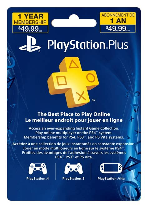 Amazon Canada Gift Card - amazon canada deal save 13 off sony playstation plus 12 month subscription card live