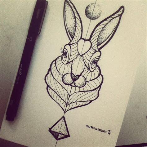 tattoo geometric instagram broken ink tattoo geometric rabbit tattoo https