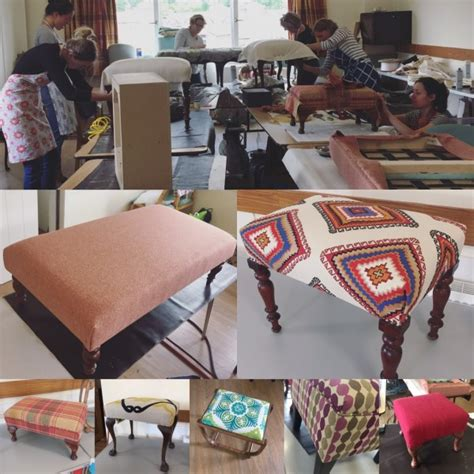 upholstery course upholstery footstool making weekend workshop in cumbria
