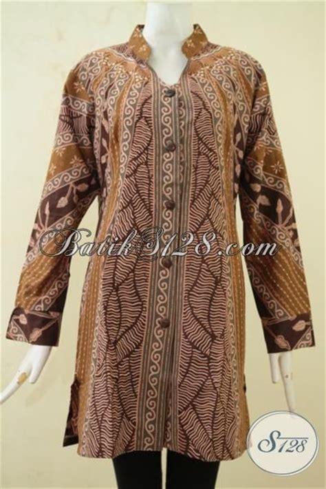 Baru Kemeja Coklat Sw Kemeja Wanita Baju Atasan Cewek Modis model baju formal untuk wanita blus batik coklat model