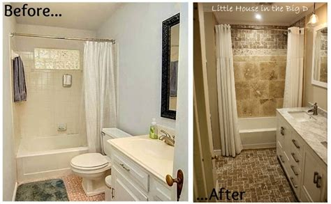 before and after bathroom remodels little house in the big d bathroom remodel before and