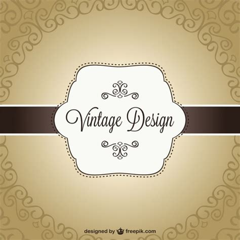 Free Header Card Templates by Retro Banner Card Template Vector Free
