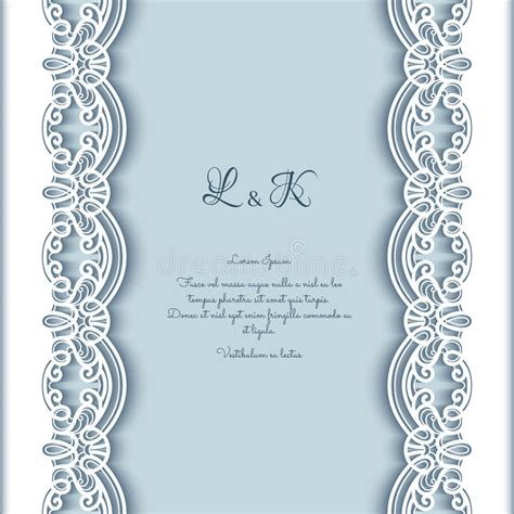 Wedding Paper With Border by Cutout Paper Background With Lace Borders Stock Vector