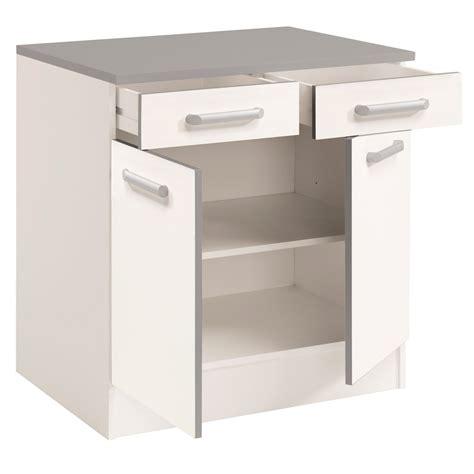 meuble bas cuisine 80 cm meuble bas de cuisine contemporain 80 cm 2 portes 2