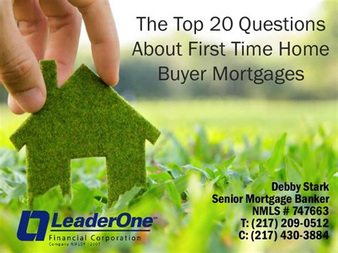 Time Home Buyer Common Questions The by Homebuyer Presentation Pt 2 Debby Stark