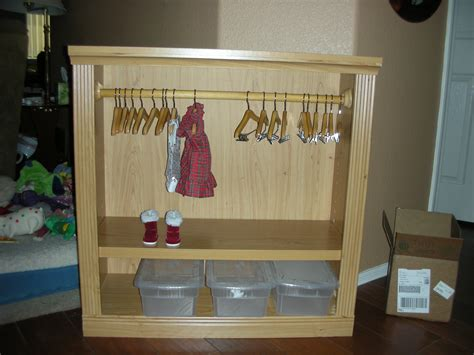 Doll Wardrobe by 18 Quot Doll Clothes Closet Armoire