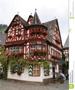 Build A Frame House altes haus old house in bacharach germany royalty free
