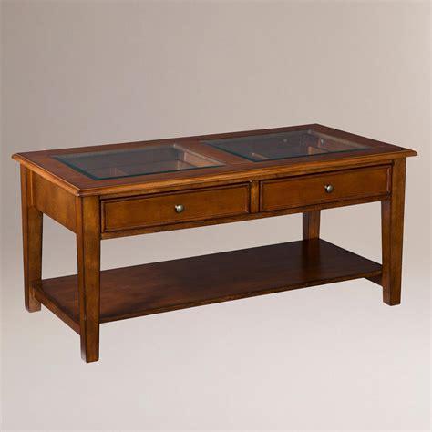 walnut display coffee table world market