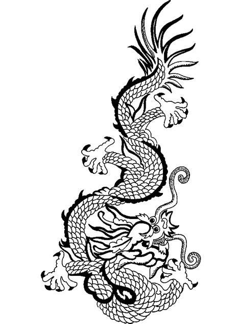 coloring page chinese dragon free printable chinese dragon coloring pages for kids