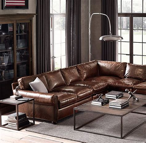 restoration hardware modena leather sofa 15 best images about family room on chair