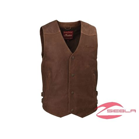 mens leather motorcycle vest s indian motorcycle leather vest brown leather by