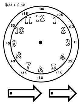 printable interactive clock to tell common core standards and student on pinterest