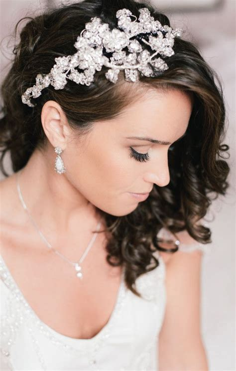 One Side Hairstyles Accessories by Softly Curled Hair Pinned To One Side With A Sparkling