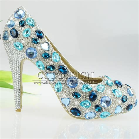 light blue high heel shoes dhl free shipping and light blue