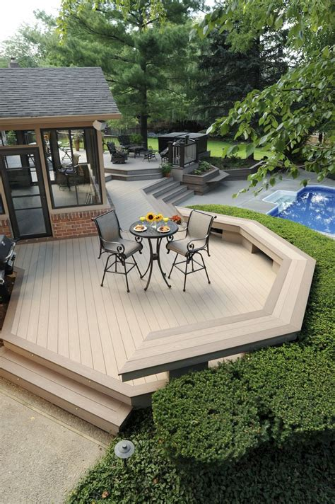 azek harvest collection decking  brownstone  sedona