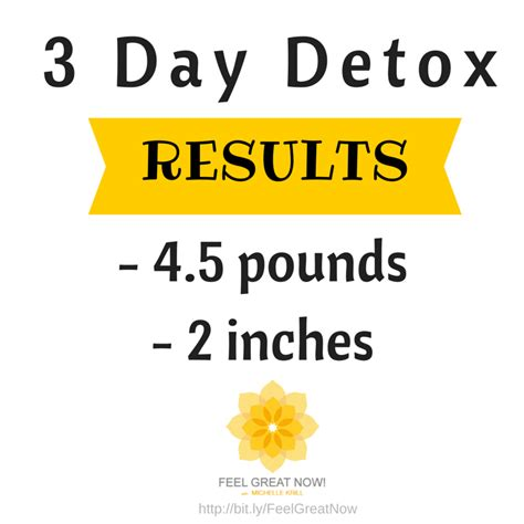 3 Day Detox Results by Detox Refresh Gt Feel Great Now