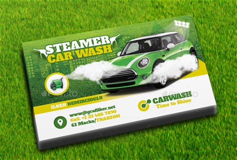 car business card templates free car wash business cards 254 best auto detailing business