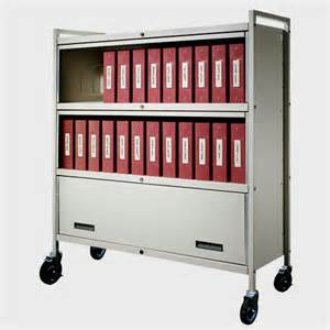 Carstens 4834 privacyline medical binder cart shown in gray