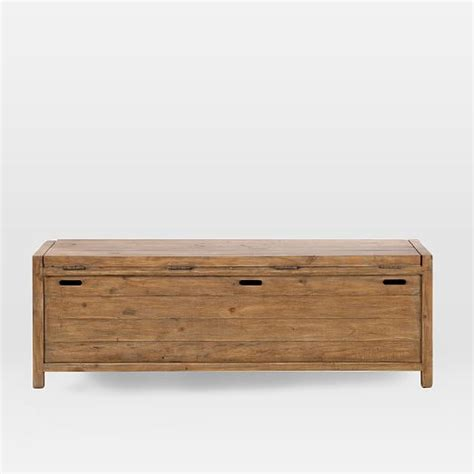 storage bench west elm bay storage bench west elm