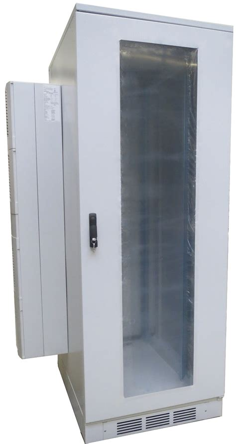 air conditioned rack 19 quot server cabinet 42 u with roof air conditioner 1200 w
