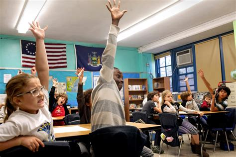york high school classroom in one school students are divided by gifted label and