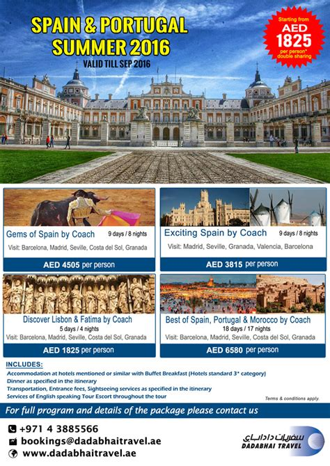 spain portugal summer promo package
