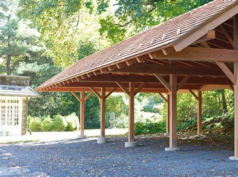 timber frame carport  wynncote pa