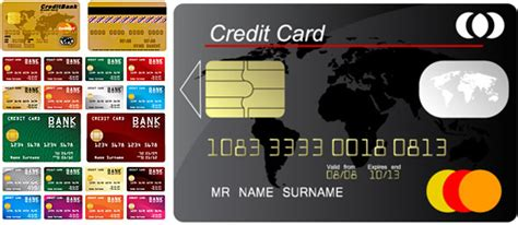 Visa Credit Card Template Vector Credit Card Design Vector Free Vector 12 460